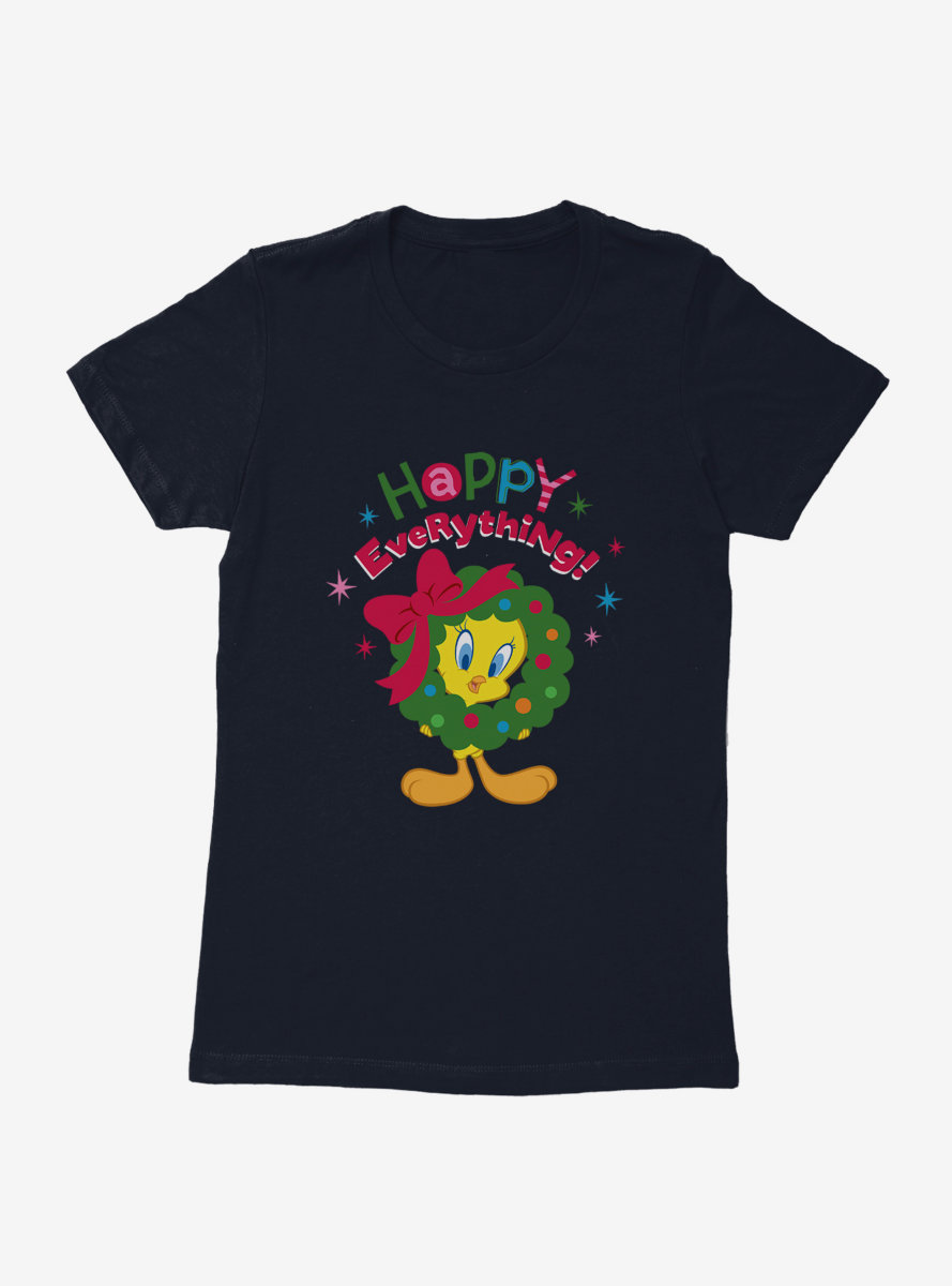 Looney Tunes Holiday Happy Everything Womens T-Shirt