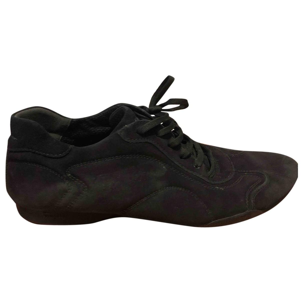 Salvatore Ferragamo \N Black Suede Flats for Men 42.5 EU