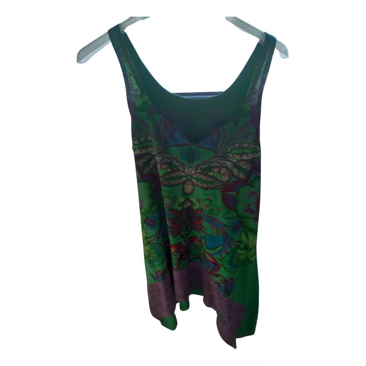 Desigual \N Kleid in  Gruen Baumwolle