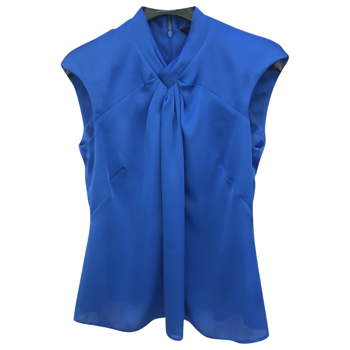 Karen Millen \N Lederjacke in  Blau Polyester