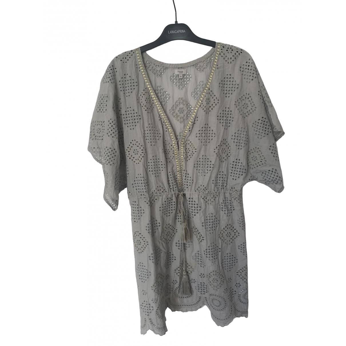 Hoss Intropia \N Kleid in  Grau Baumwolle