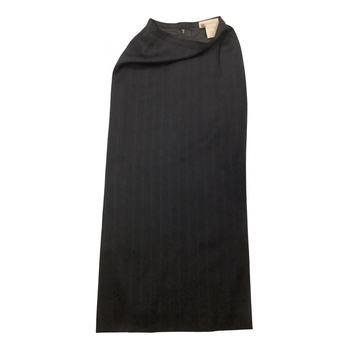 Genny - Jupe   pour femme en laine - marine