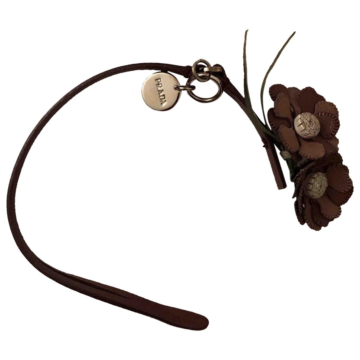 Prada - Bracelet   pour femme en cuir - rose