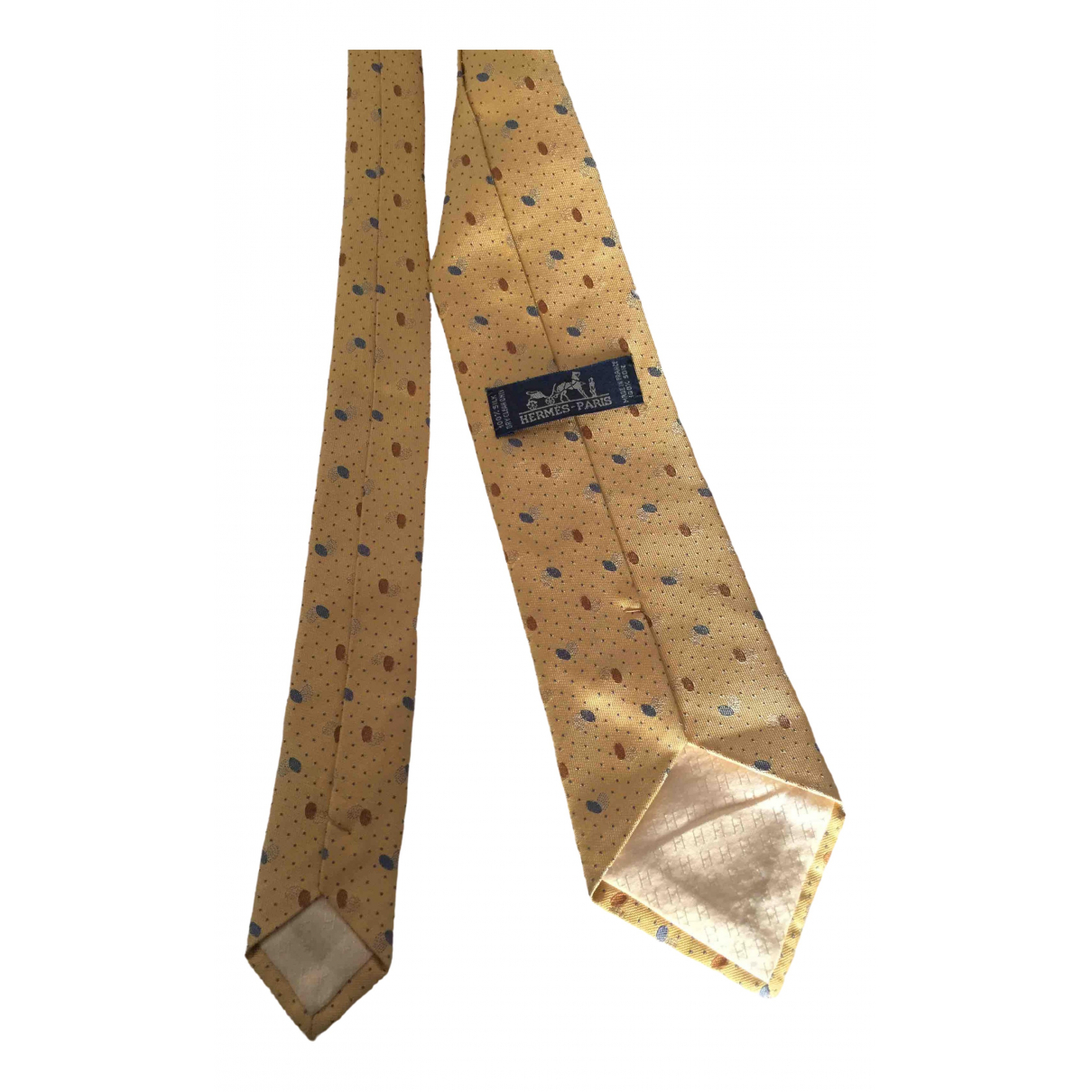 Hermès \N Yellow Silk Ties for Men \N