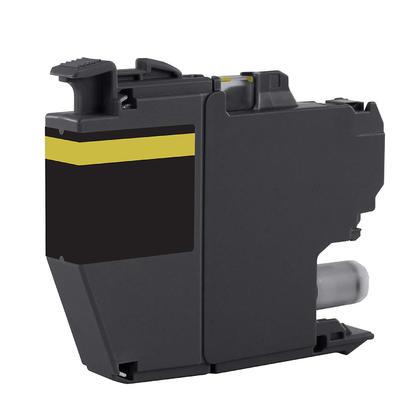 Compatible Brother LC3013Y cartouche d'encre jaune haute capacite - avec chip - boite economique