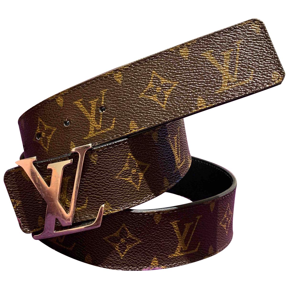 Louis Vuitton - Ceinture Initiales pour femme en toile - marron