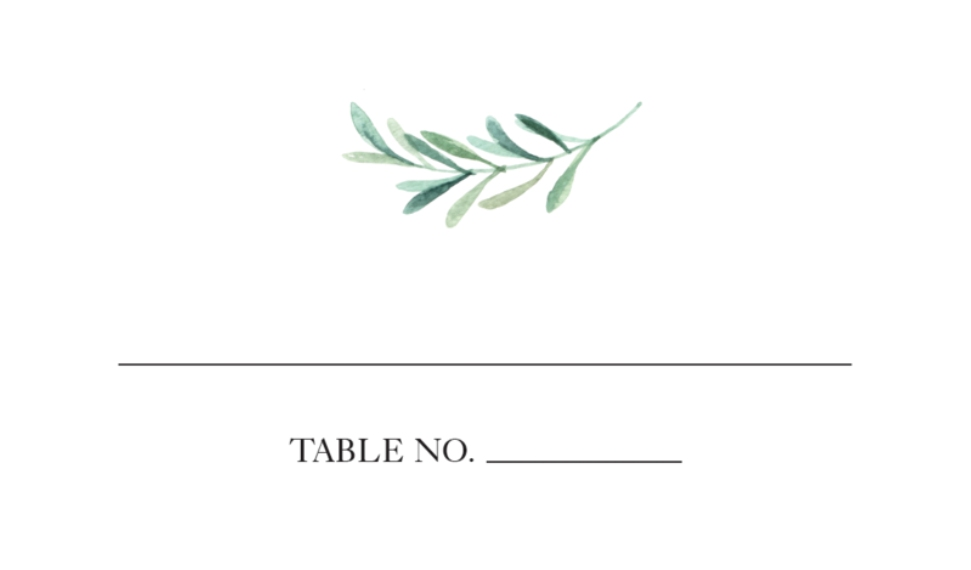 Matching Suites Business Cards, Set of 40, Rounded Corner, Card & Stationery -Wedding Place Card Greenery by Tumbalina