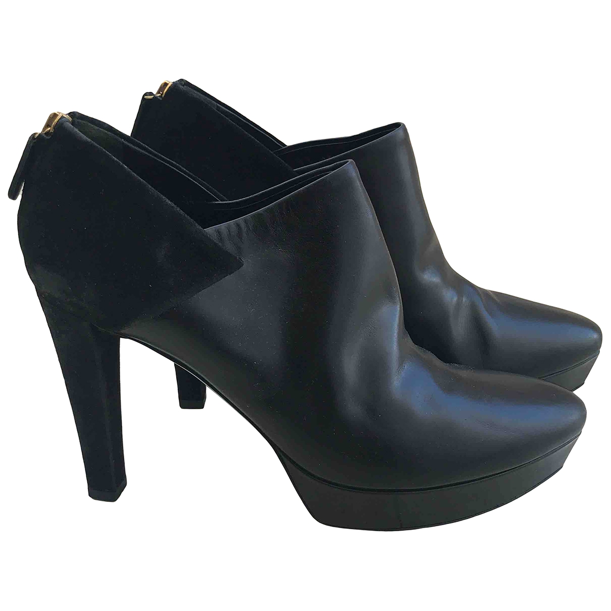 Gucci \N Black Leather Ankle boots for Women 39.5 EU
