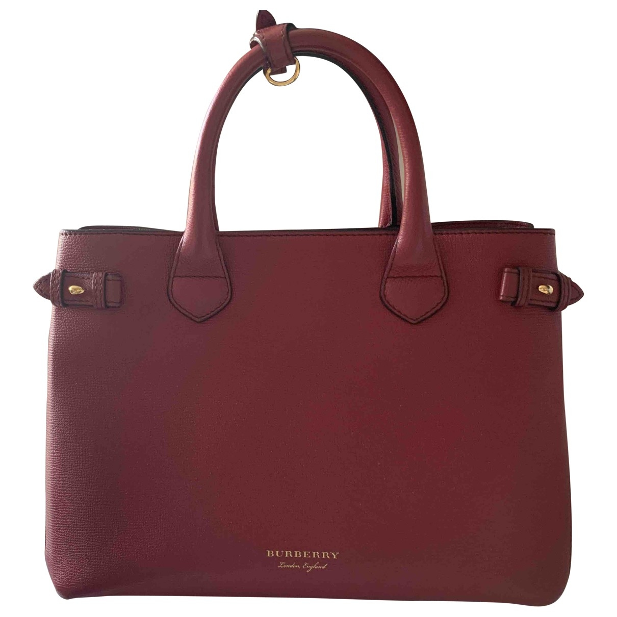 Burberry The Banner  Red Leather handbag for Women \N