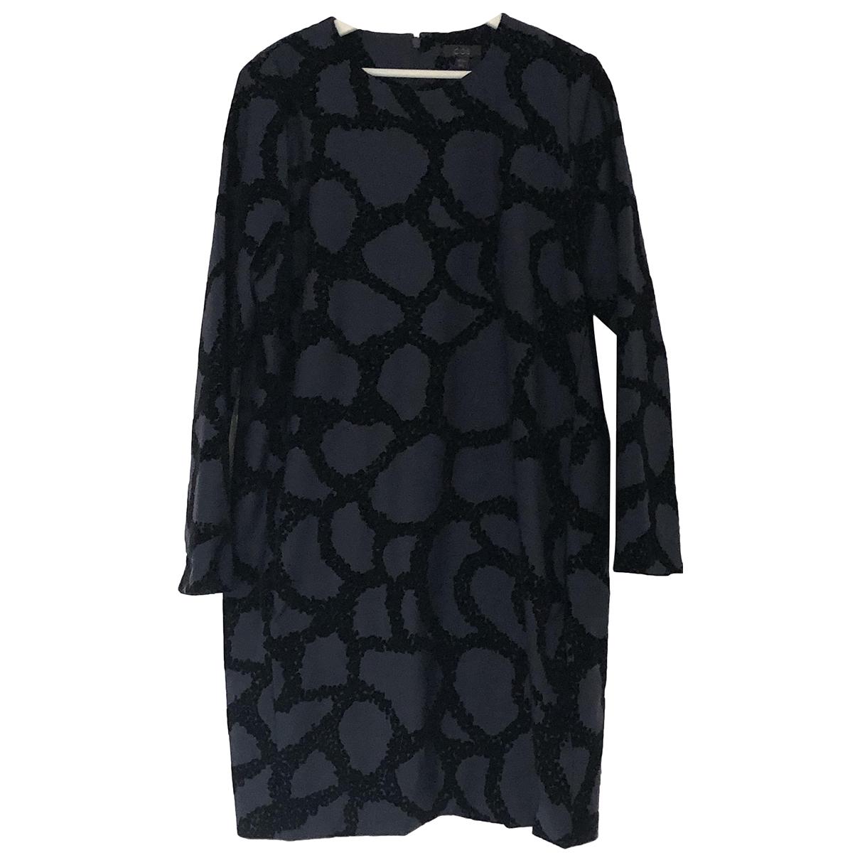 Cos - Robe   pour femme en laine - marine