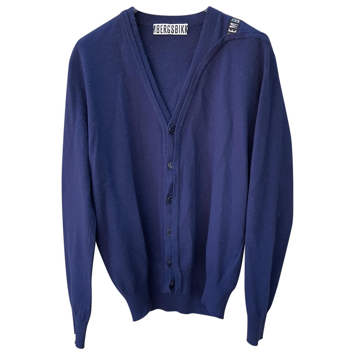 Dirk Bikkembergs \N Pullover.Westen.Sweatshirts  in  Blau Wolle
