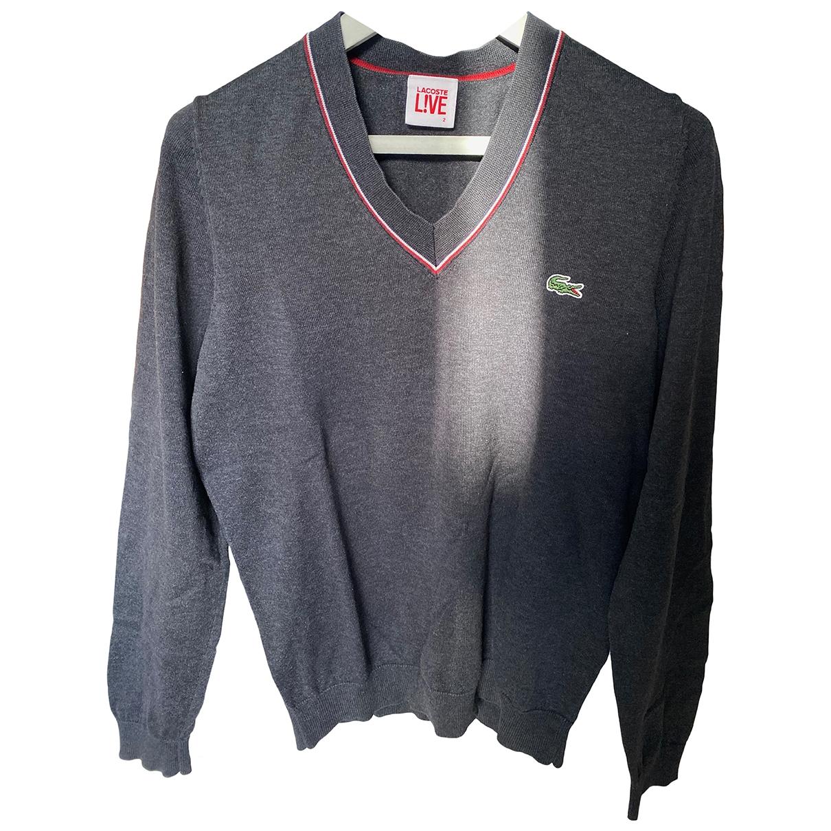 Lacoste Live \N Pullover.Westen.Sweatshirts  in  Anthrazit Baumwolle