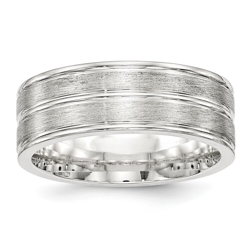 Sterling Silver 8mm Brushed Fancy Band by Versil (8.5)