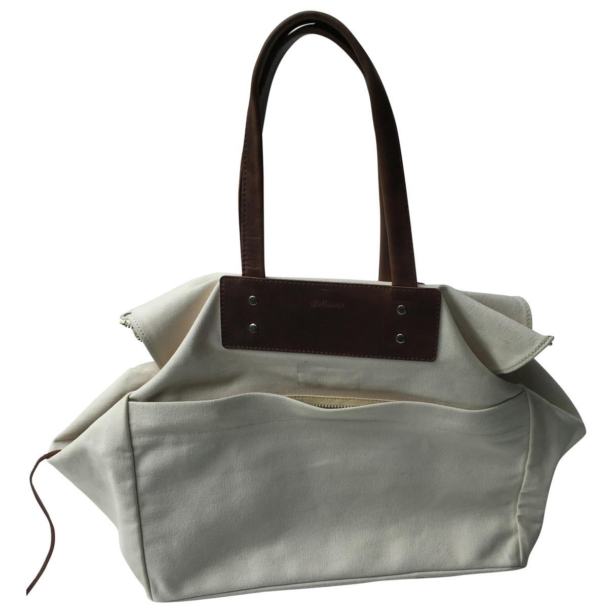 Bellerose \N Ecru Cotton handbag for Women \N