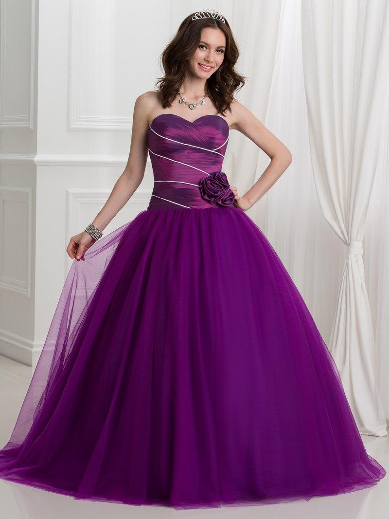 Ericdress Sweetheart Flowers Pleats Ball Gown Quinceanera Dress
