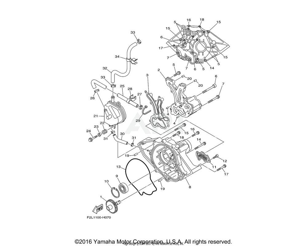 Yamaha OEM 97513-06535-00 BOLT, WITH WASHER