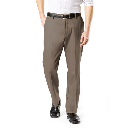 Dockers Big & Tall Classic Fit Signature Khaki Lux Cotton Stretch Pants D3, 40 36, Brown