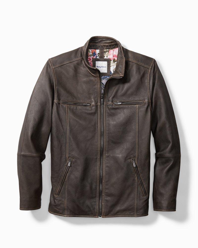 Big & Tall Rocker Highway Leather Jacket