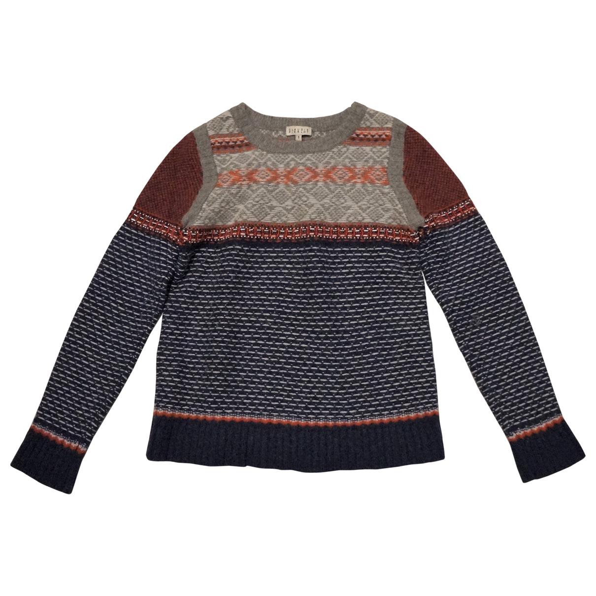 Claudie Pierlot - Pull   pour femme en laine - multicolore