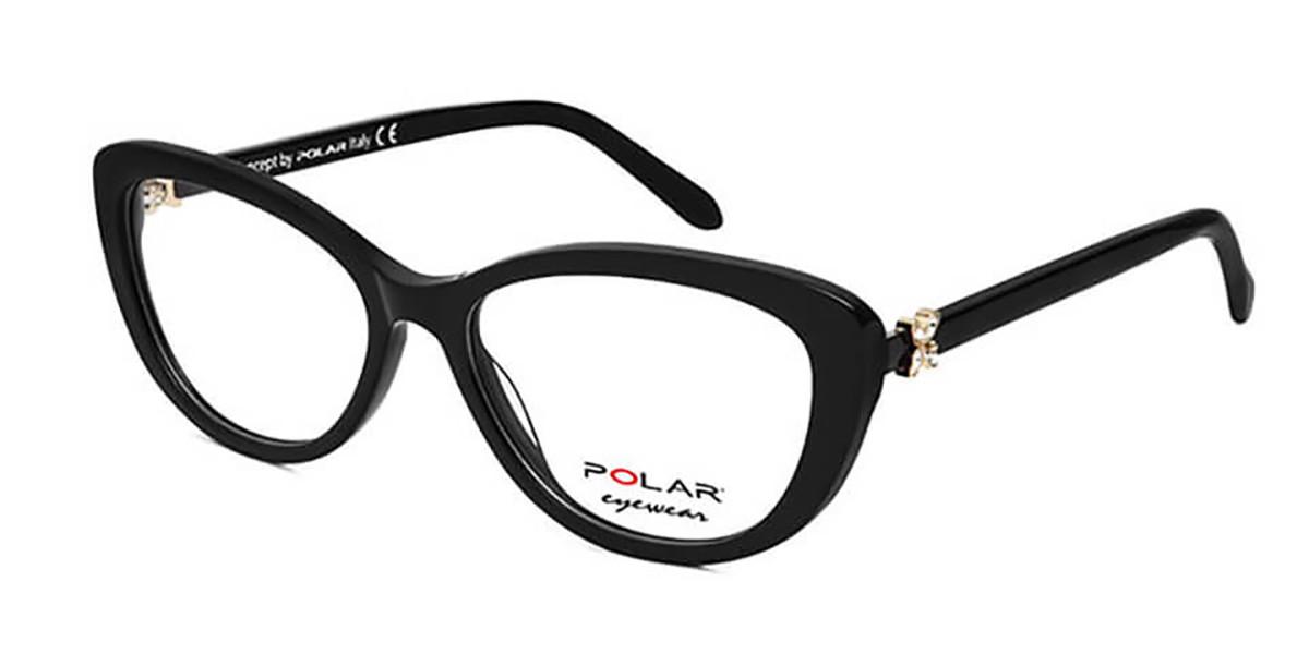 Polar PL Crystal 6 77 Men's Glasses Black Size 54 - Free Lenses - HSA/FSA Insurance - Blue Light Block Available