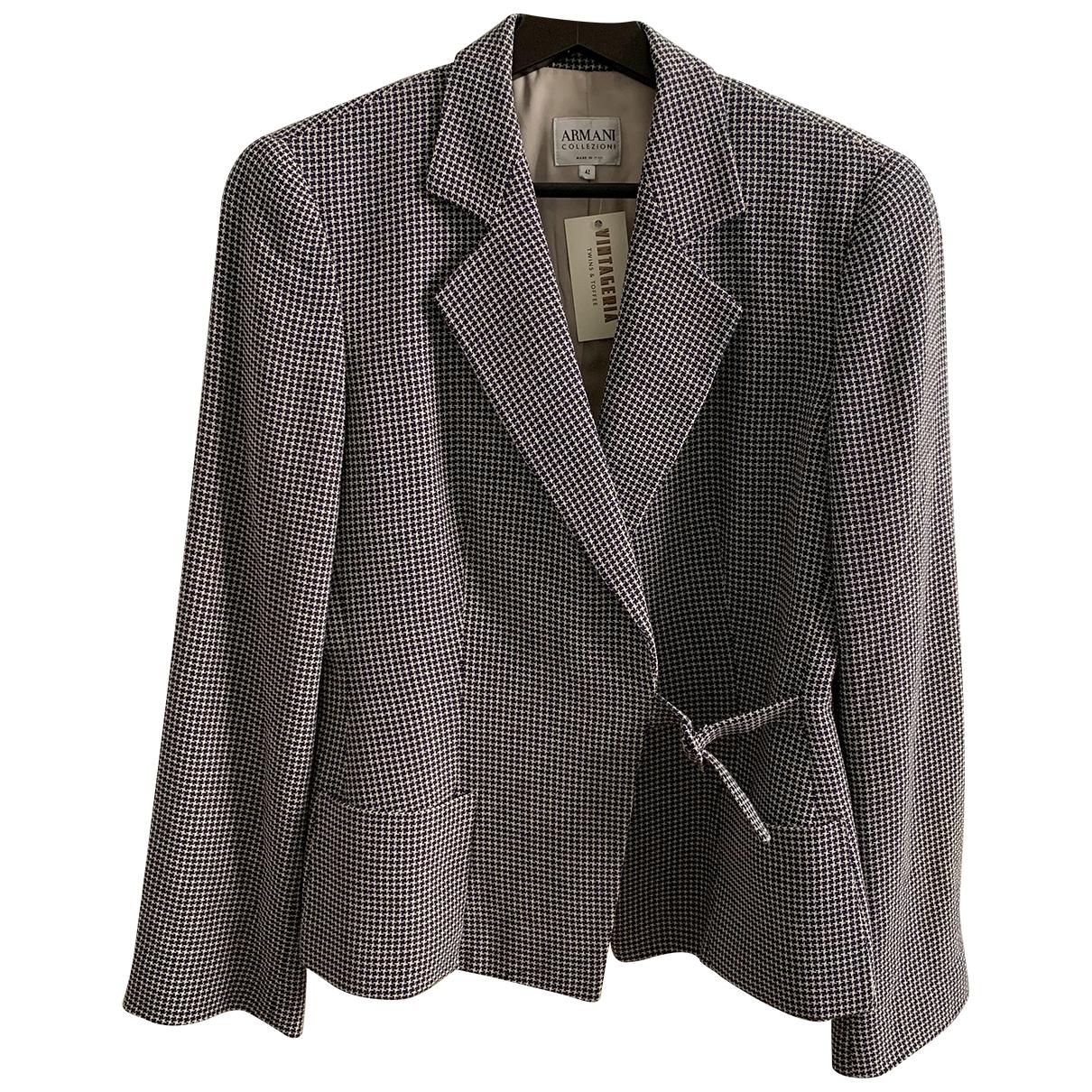 Armani Collezioni \N Blue jacket for Women 42 IT