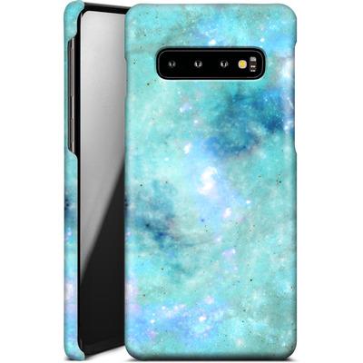 Samsung Galaxy S10 Smartphone Huelle - Abstract Galaxy - Light Blue von Barruf
