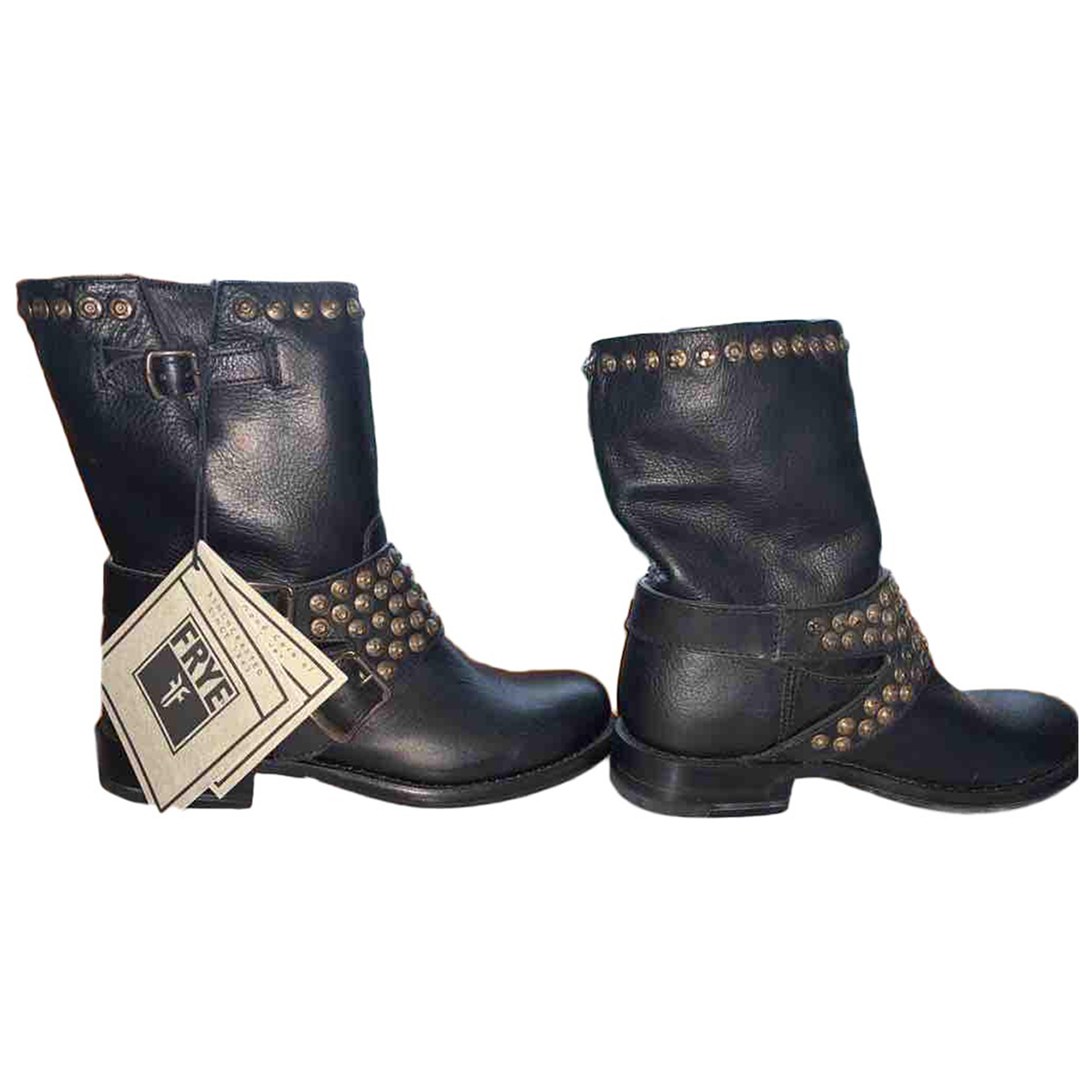 Frye N Black Leather Boots for Women 36 EU