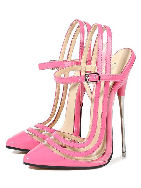 Milanoo Women Seductive Sexy High Heels Black Pointed Toe Stiletto Heel Sexy Shoes