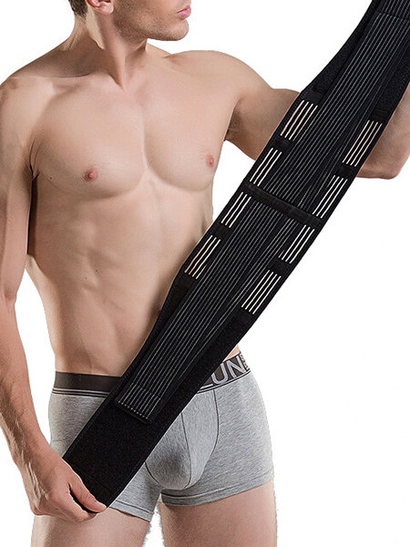 Mens Abdomen Control Shapewear Belt Sports Body Protect Fat Burner Belt