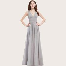 Kleid mit V-Kragen und Ruesche