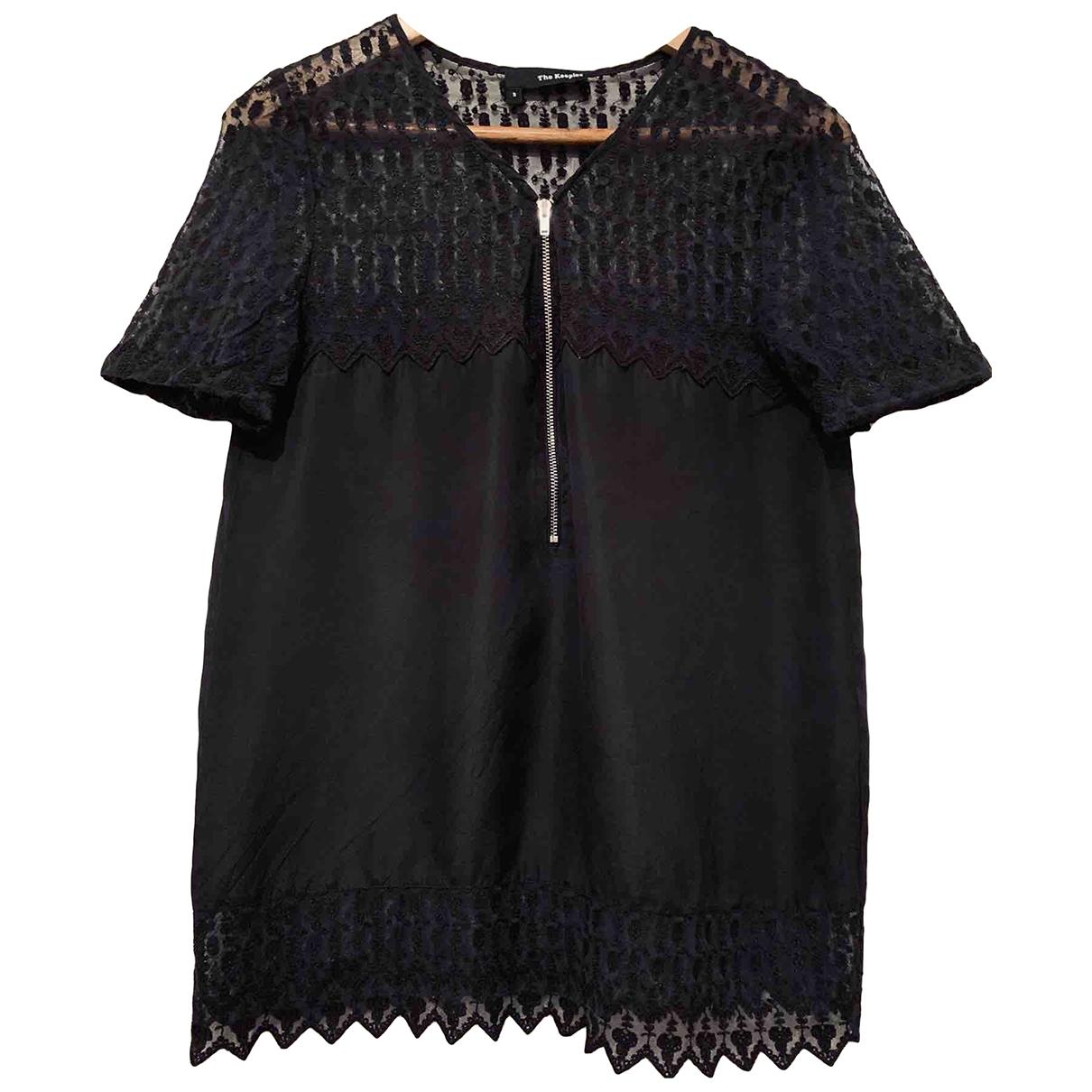 The Kooples - Top   pour femme en soie - noir