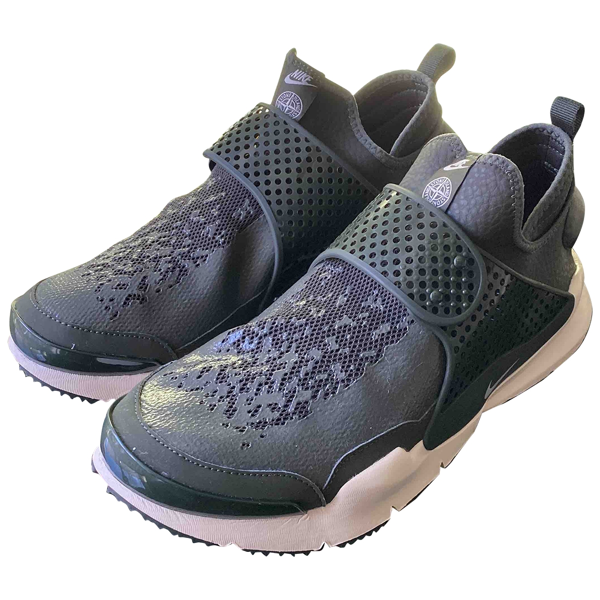 Nike Sock Dart Green Leather Trainers for Men 9 US