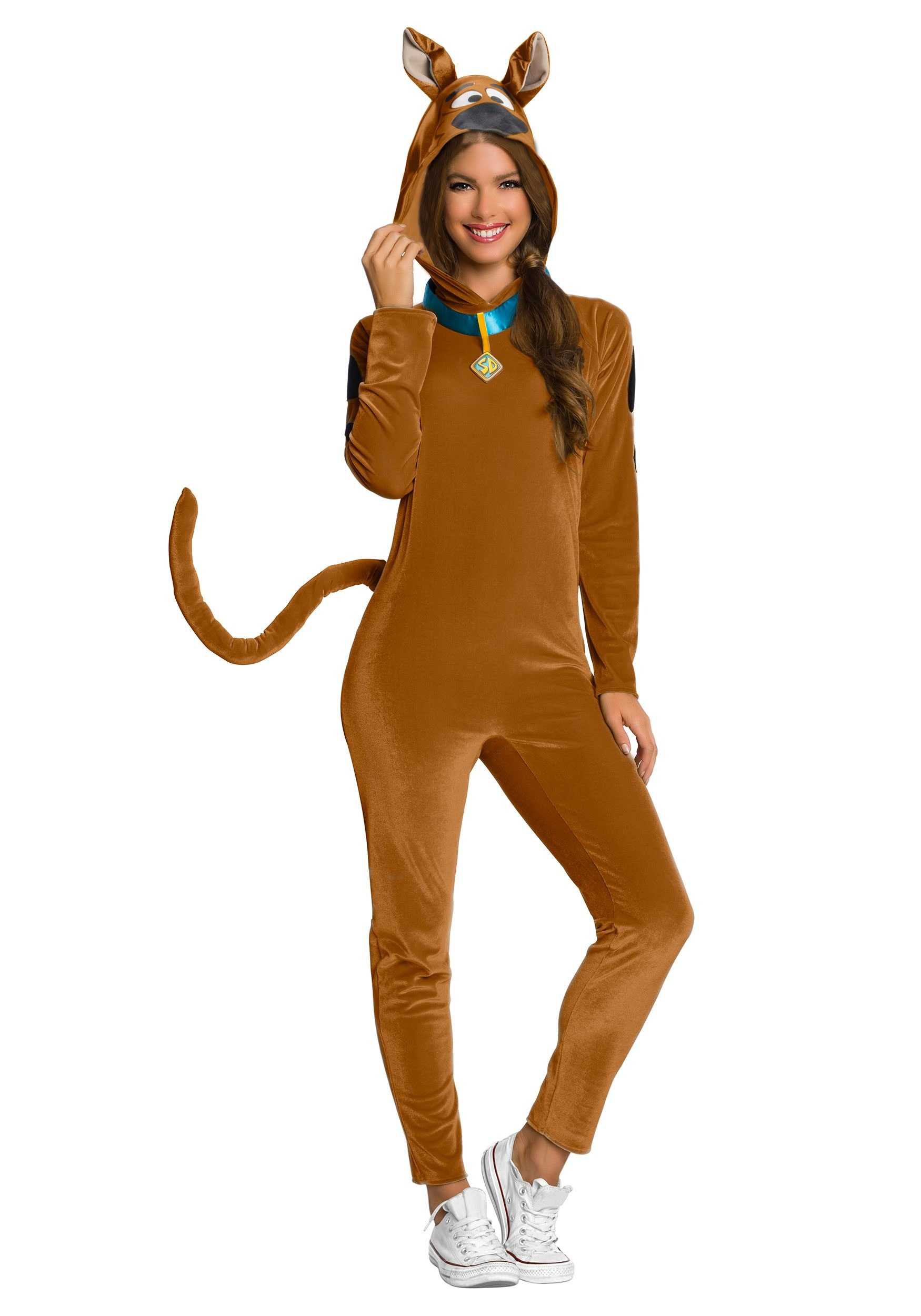 Scooby-Doo Women's Costume Jumpsuit W/ Collar and Tail