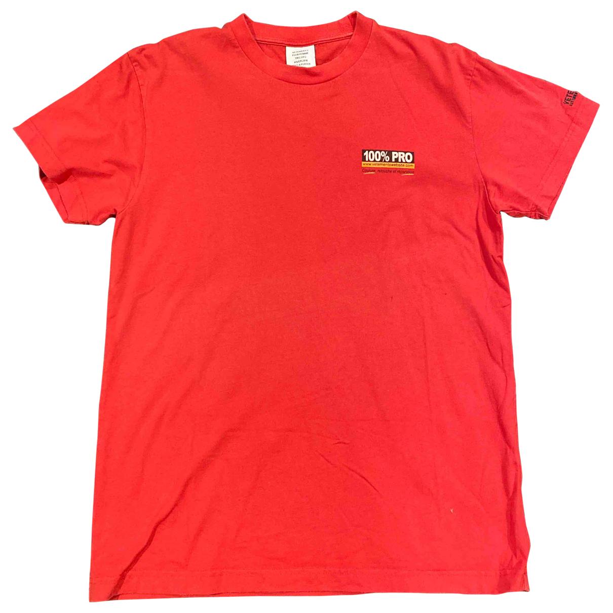 Vetements - Tee shirts   pour homme en coton - rouge