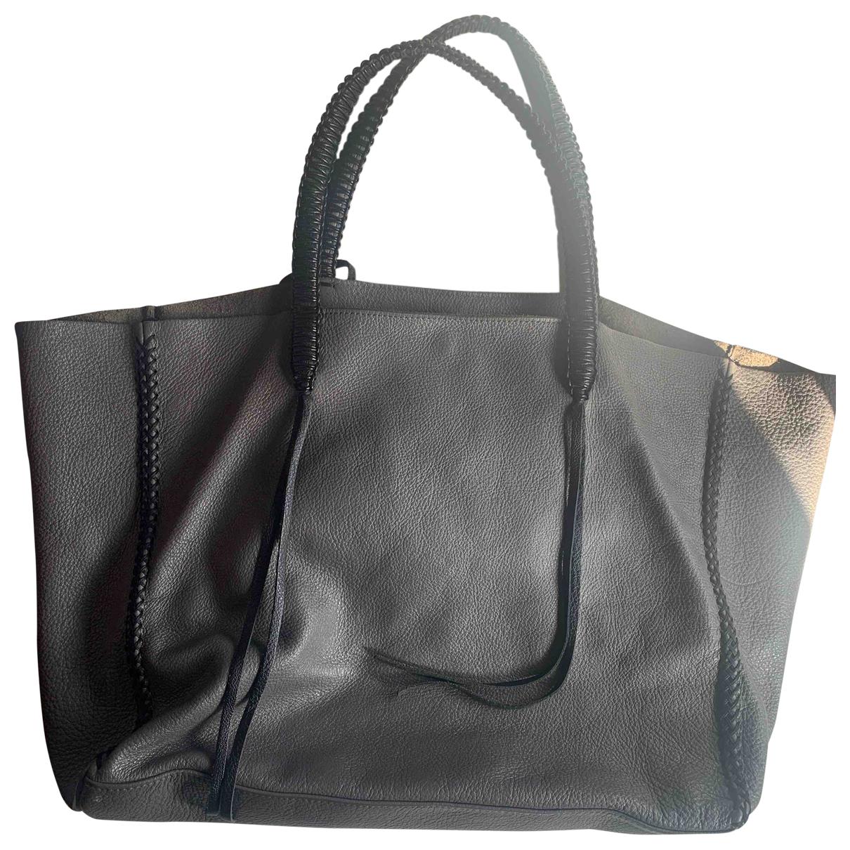 Callista Crafts - Sac a main   pour femme en cuir - gris