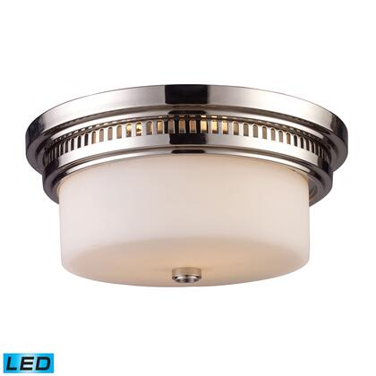 66111-2-LED Chadwick 2-Light Flush Mount in Polished Nickel -