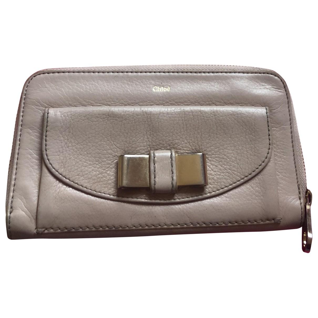 Chloé \N Beige Leather wallet for Women \N