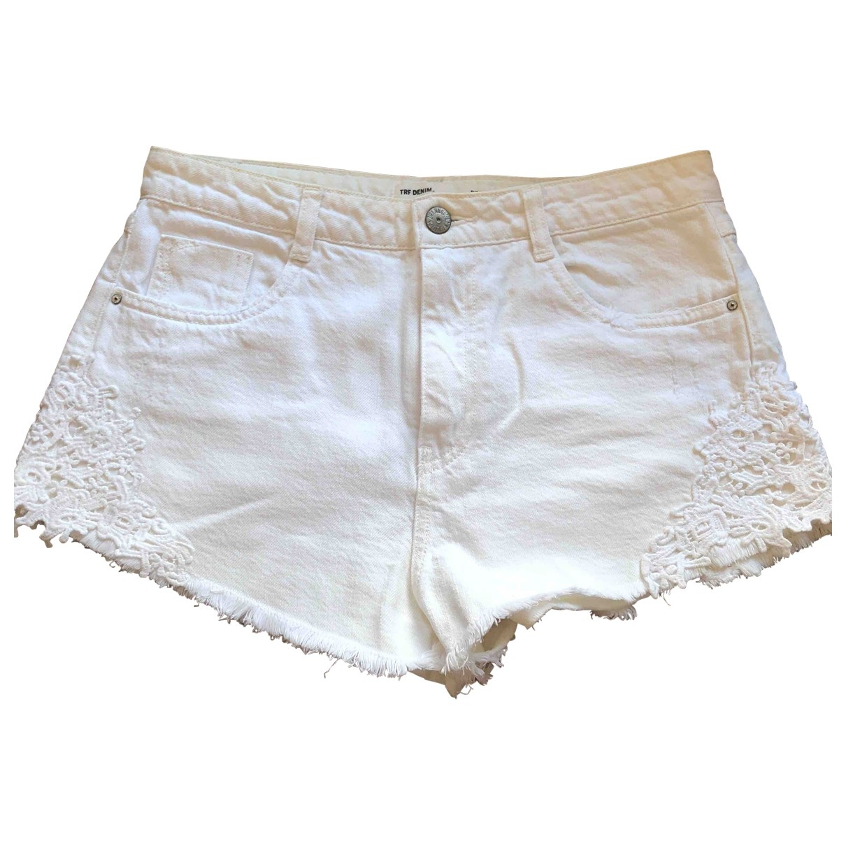 Zara \N White Cotton - elasthane Shorts for Women 36 FR
