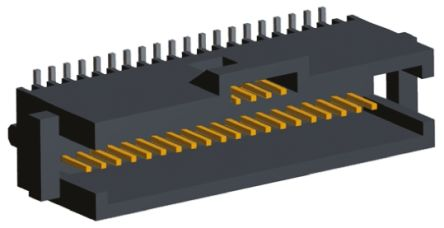 TE Connectivity , AMPMODU System 50, 40 Way, 2 Row, Straight PCB Header