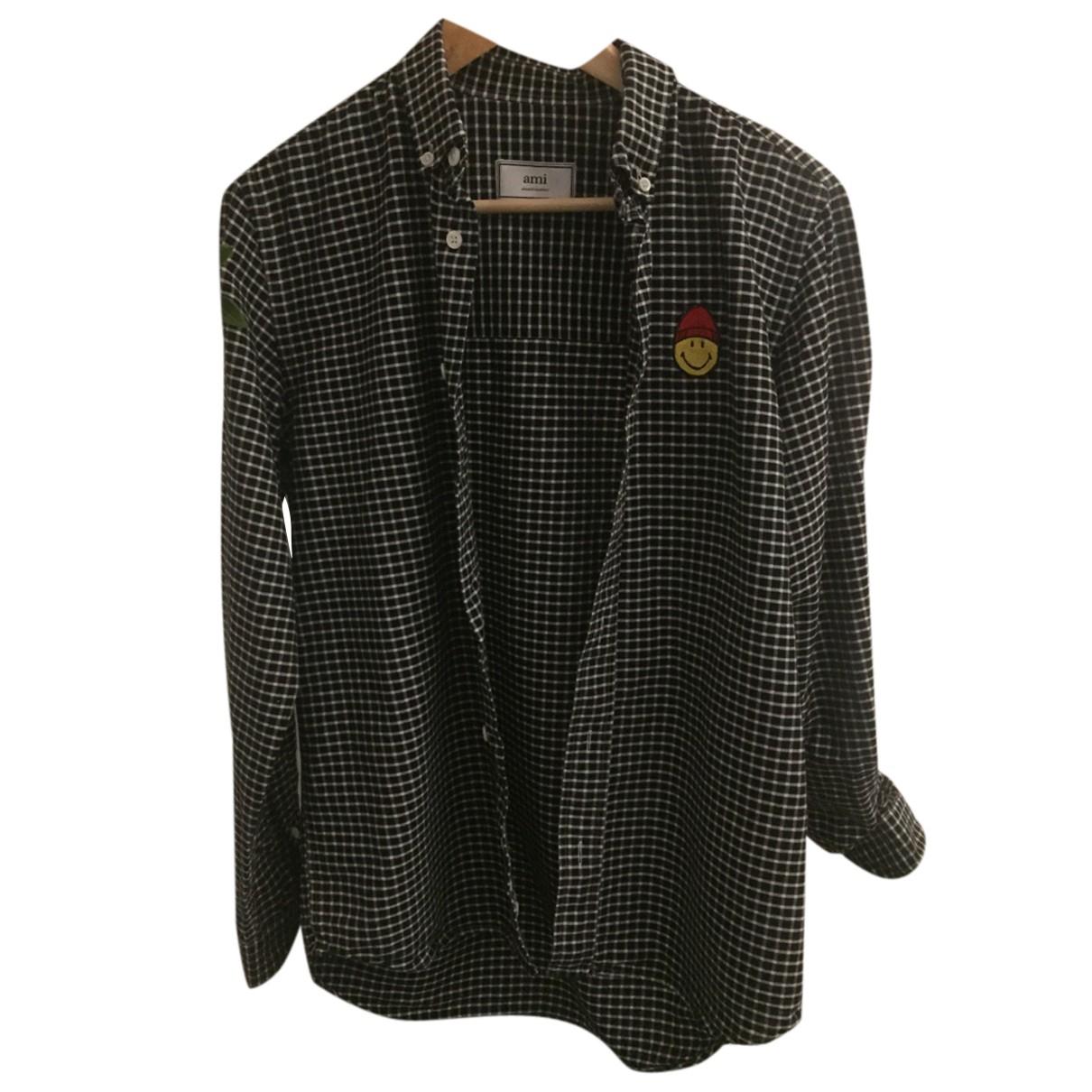 Ami - Chemises   pour homme en coton - noir