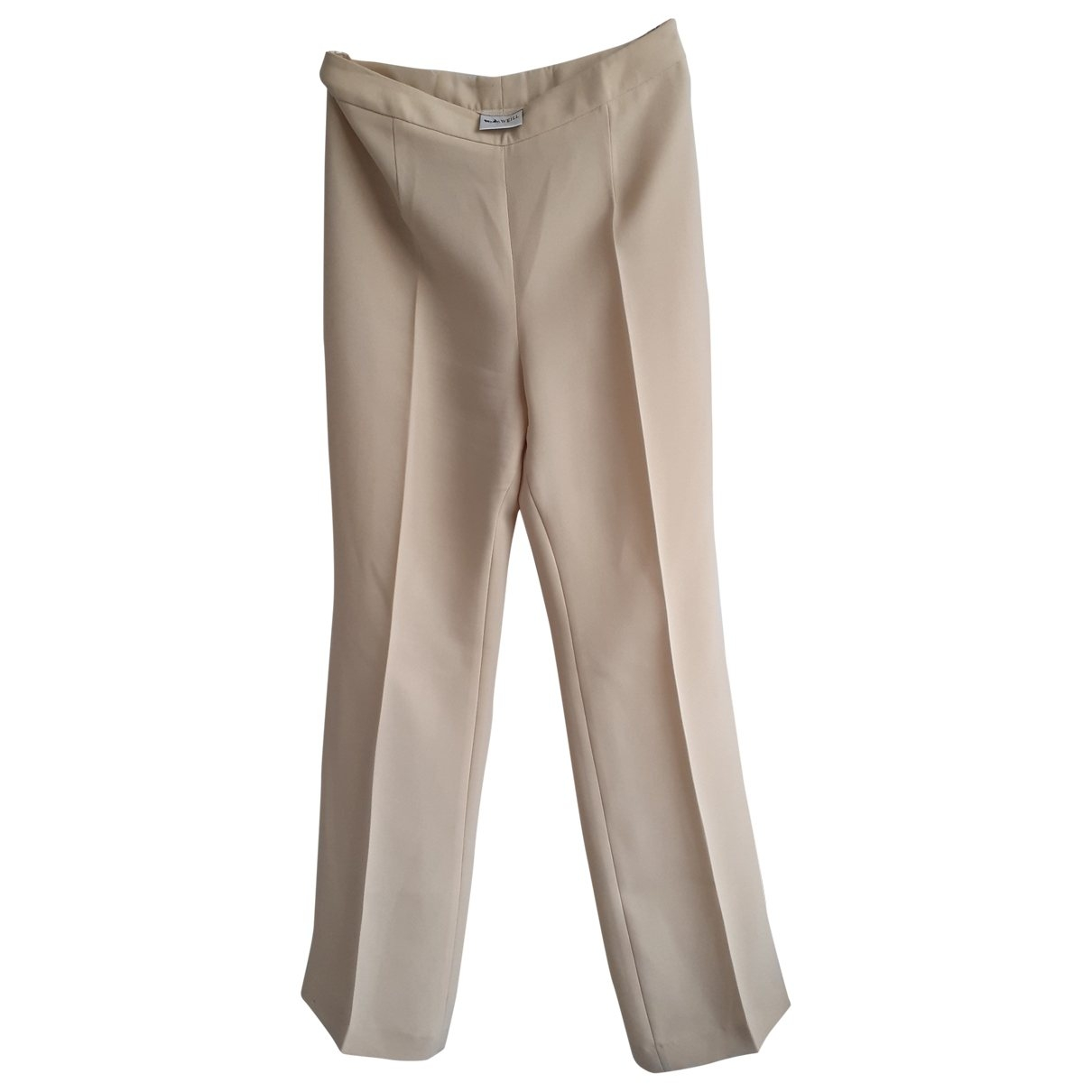 Non Signé / Unsigned \N Beige Trousers for Women 38 FR