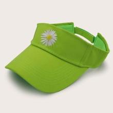 Daisy Embroidery Visor Hat