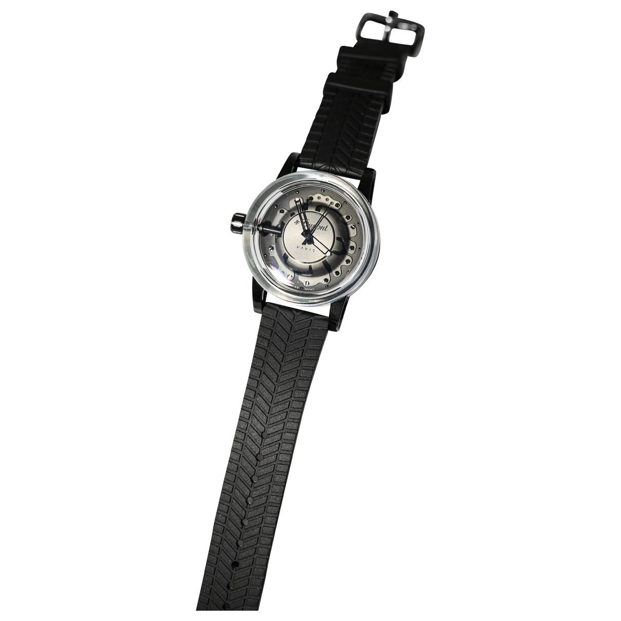 S.t. Dupont \N Black Steel watch for Men \N