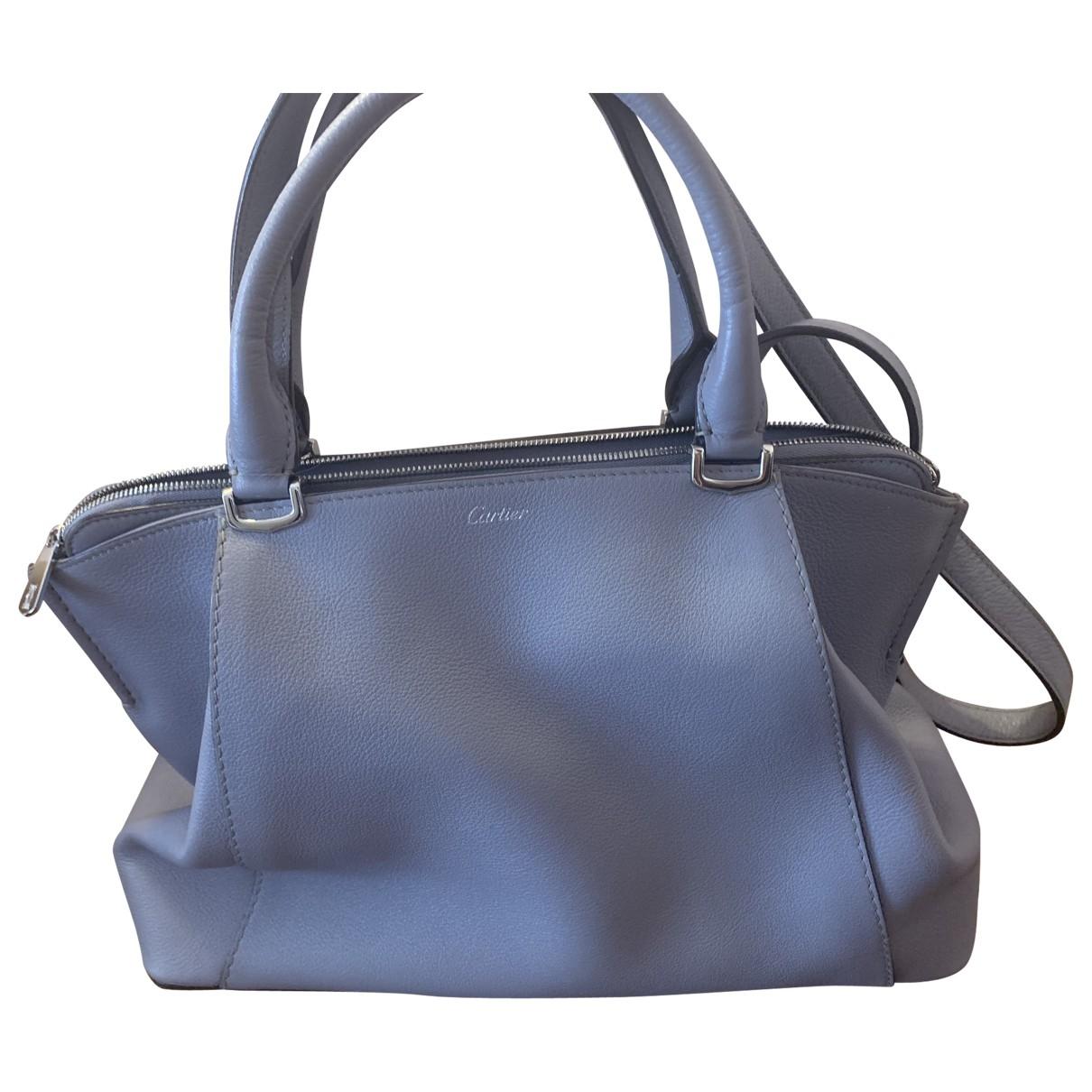 Cartier C Grey Leather handbag for Women \N