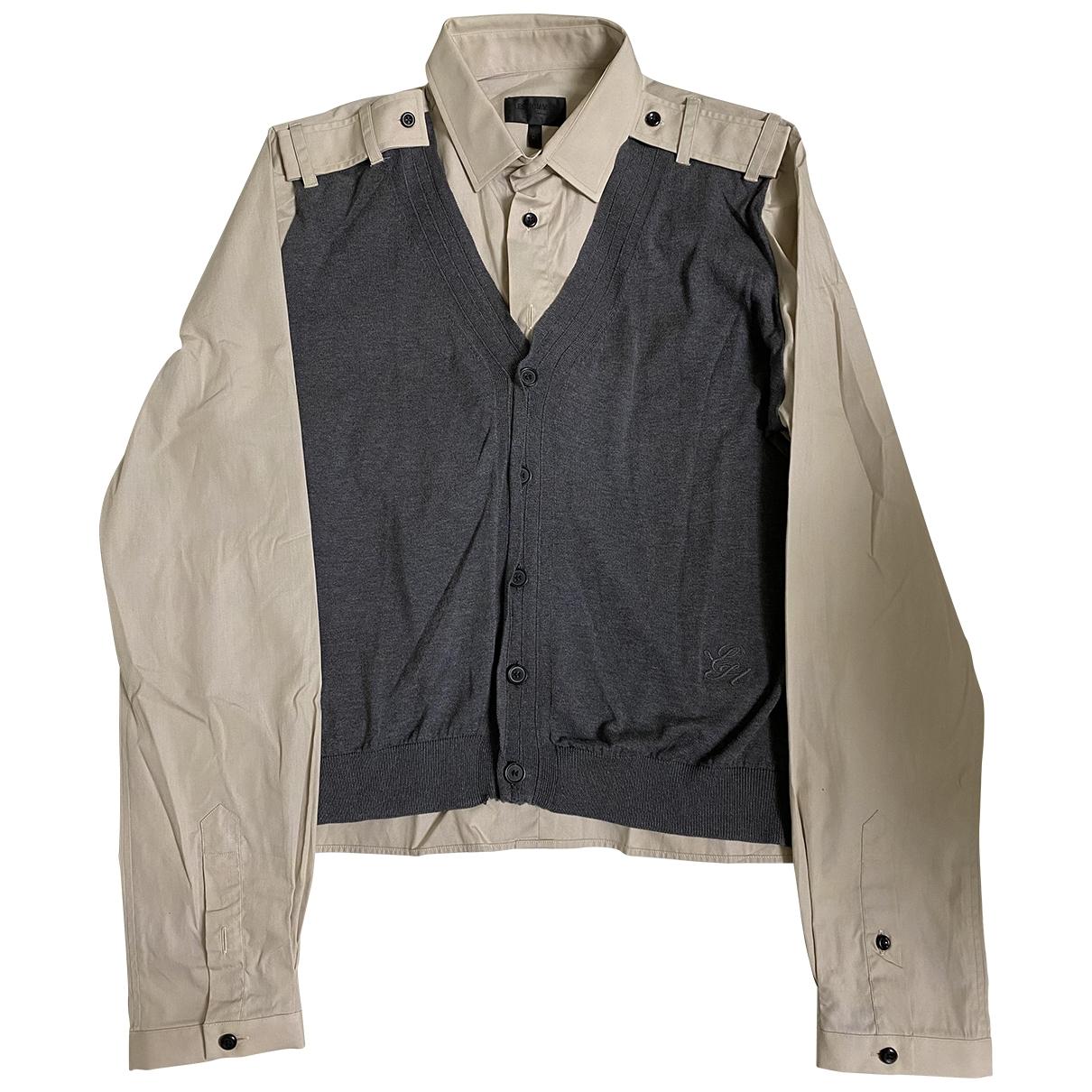 Les Hommes - Chemises   pour homme en coton - marron