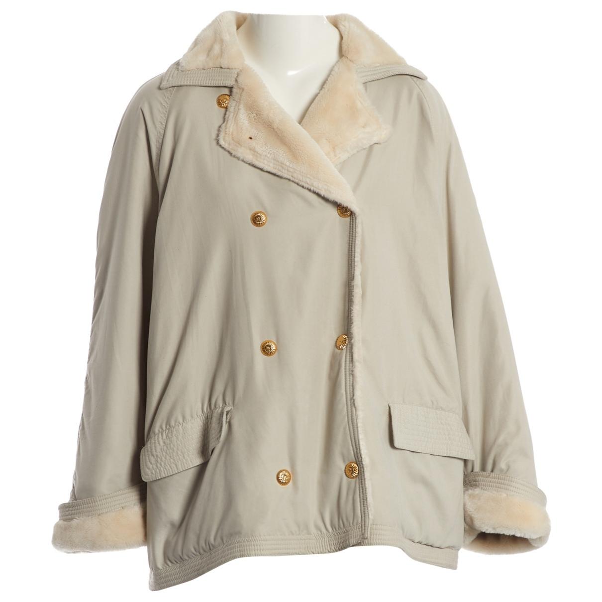 Versace \N Maentel in  Grau Polyester