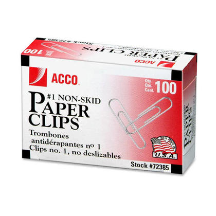 Paper Clips Argent Acco, assorties Taille - Argent - #1 (1-9/32�, corrugated 236364