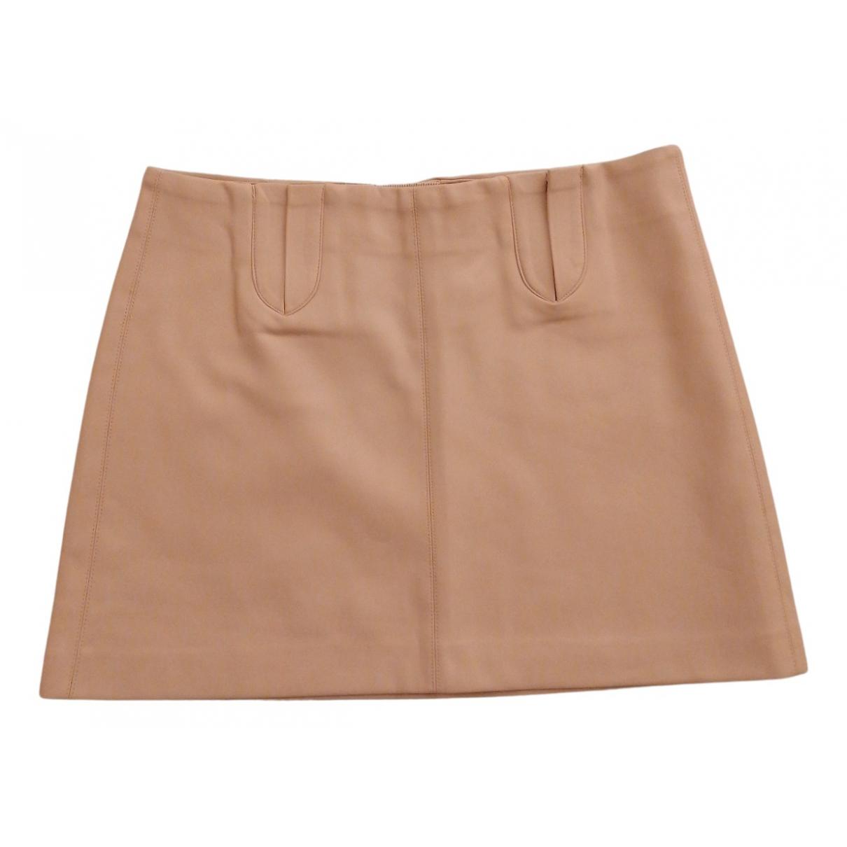 Mini falda de Cuero Zara