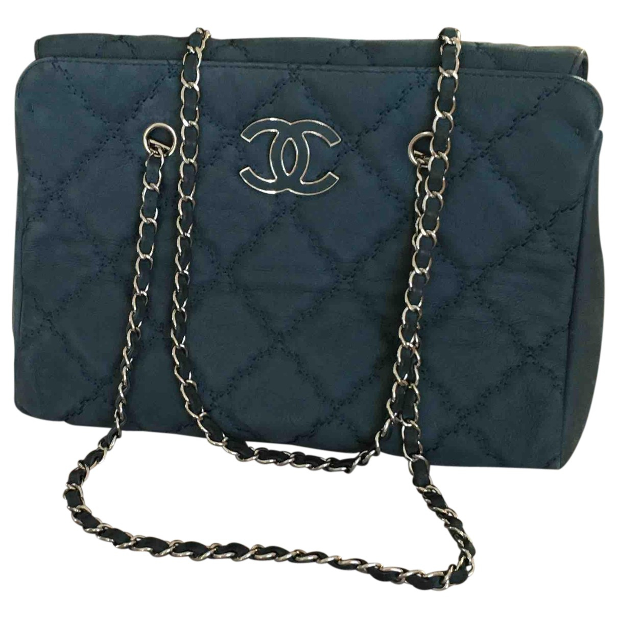 Chanel N Blue Leather handbag for Women N