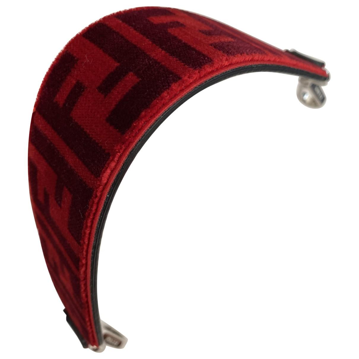 Fendi - Petite maroquinerie   pour femme en velours - rouge